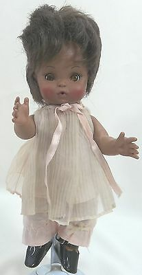 "Vintage EFFANBEE Doll  African American 10"" Vinyl Collectible 1966"