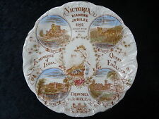 1897 Queen Victoria Diamond Jubilee Plate - Balmoral Castle, Buckingham Palace