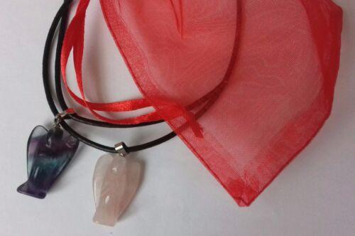 Angel gemstone pendants