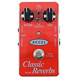 accel classic reverbs guitar effects pedal 881314740567 ebay. Black Bedroom Furniture Sets. Home Design Ideas