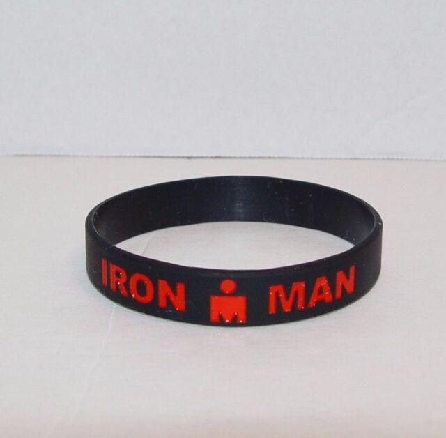 Ironman Triathlon Wristband Iron Man 140 6 Race Black Red Road Id Swim Bike Run