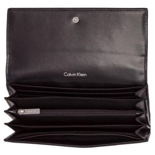 Nuovo Large Edge Wallet Calvin Klein Trifold Blu navy 06BwqTwx