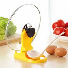 Useful Spoon Pot Lid Shelf Cooking Storage Stand Holder Kitchen Tool Accessories