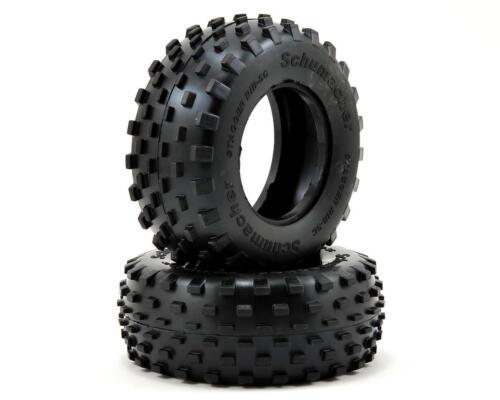 "2 Yellow SCHU6781 Schumacher /""Stagger Rib/"" Short Course Truck Tires"