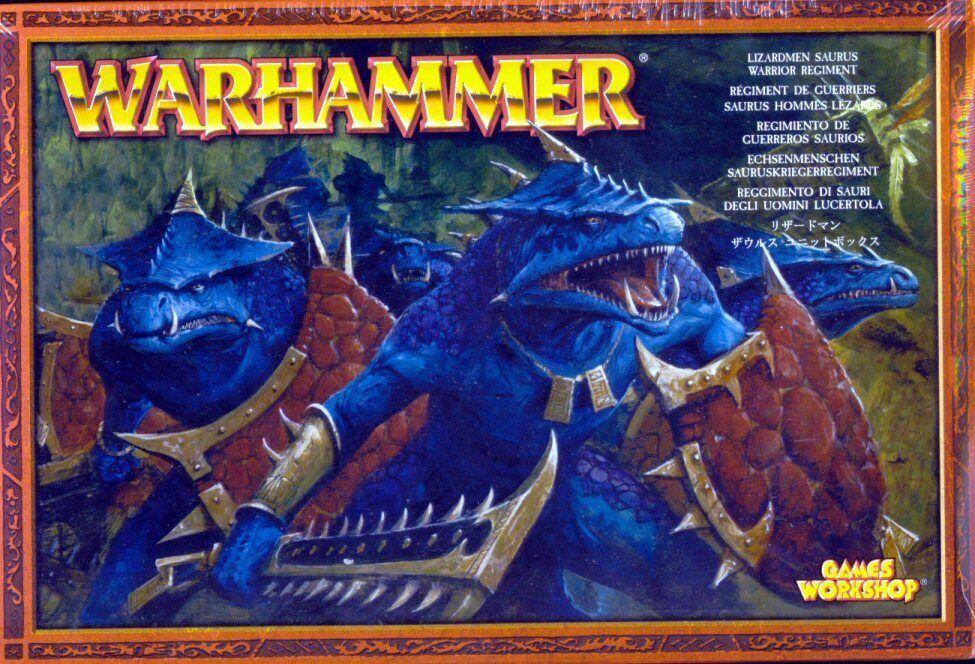 Warhammer Lizardmen Saurus Warrior Regiment   Games Workshop 2004 Sealed Box