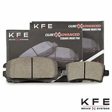 FRONT + REAR Premium Ceramic Disc Brake Pad NEW Full Set Shims KFE924 KFE1430