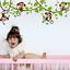 thumbnail 2 - Jungle Monkeys Tree Wall Sticker Kids Baby Room Nursery Animal Mural Decor Decal