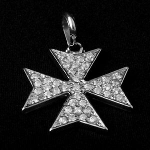 pendant his featured collections world cross maltese silver collection image products