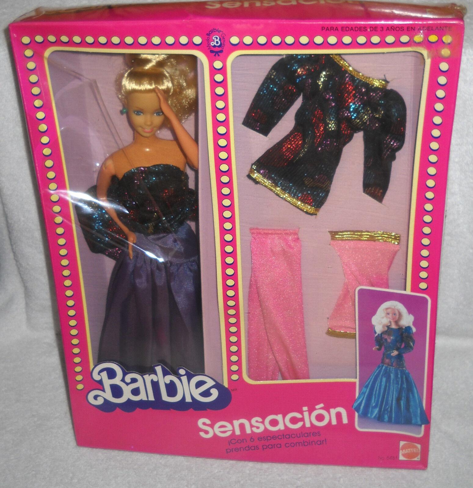 Nuevo En Caja Mattel México Barbie Sensacion Set exterior cuestión