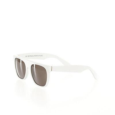 $169 MSRP 035 Super Sunglasses Flat Top White RetroSuperFuture