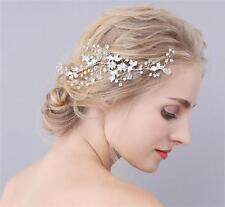 Silver Rhinestone Headdress Bridal Hair Comb Crystal Wedding Prom Headpieces