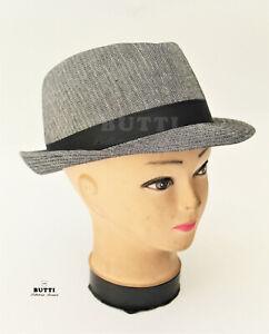 Cappello estivo uomo stile classico a tesa stretta 100/% lino made in Italy