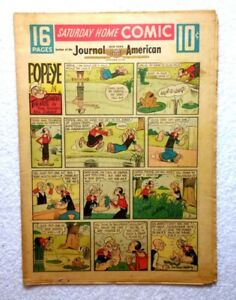 1957-COMIC-SECTION-NEW-YORK-Journal-16-Pages-BUCK-ROGERS-Popeye-LONE-RANGER