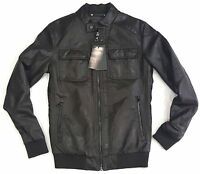 Zara Man Faux Leather Jacket Brown 100% Authentic