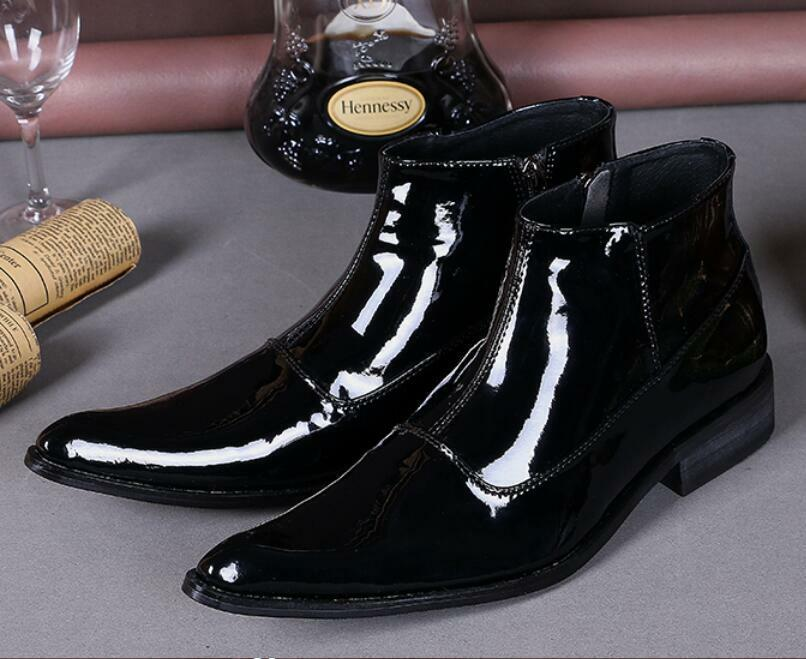 Hot Business Men Leather Dress Formal Shoes Ankle Boots Loafers US Size 5-12