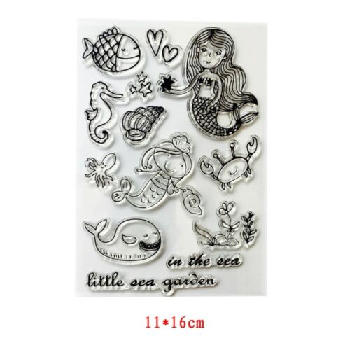 DIY Silicone Clear Stamp Cling Seal Scrapbook Embossing Album Decor