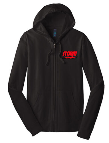 Storm Men/'s HyRoad Full-Zip Lightweight Hoodie Bowling Shirt Dri-Fit Black Red