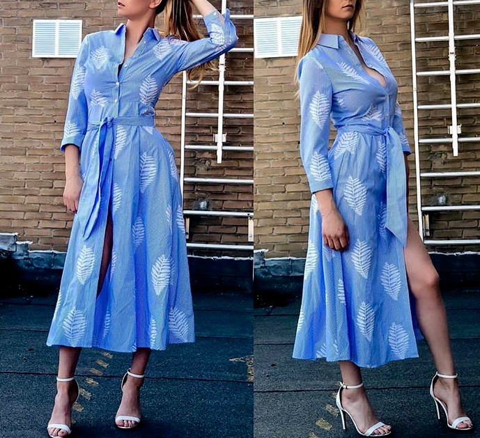 Zara Long Striped EMBROIDERED DRESS tunic MAXI ABITO RICAMO Tunica Strisce