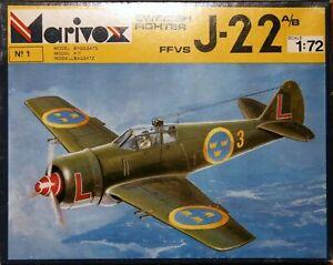 Marivox 1/72 WW2 FFVS J-22 A/B Swedish Fighter unmade kit complete sealed bag