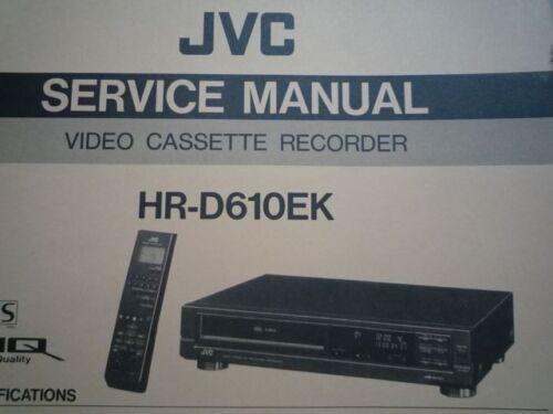 jvc hr-d610ek vhs video cassette recorder deck service manual wiring diagram  | ebay