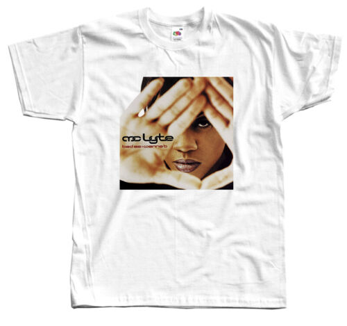 S-5XL 1996,T-SHIRT DTG album cover MC Lyte WHITE Bad As I Wanna B