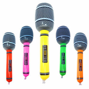 Inflatable-Microphone-Blow-Up-Fancy-Dress-Party-Disco-Musical-Accessory-Prop-UK