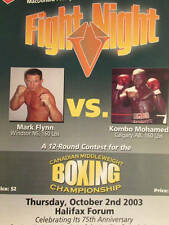 Fight Night Halifax Canadian Middleweight Boxing Championship October 2, 2003 Fl