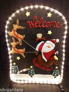 Christmas-Decorations-Rope-Light-Father-Christmas-and-Reindeer-Indoor-Outdoor