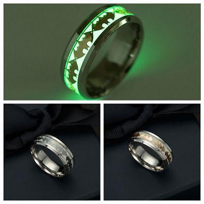 Schmuck Leuchten Im Dunkeln Rostfreier Stahl Batman Punk Leuchtband Ring   eBay
