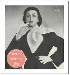 Cravat Style Scarf And Gloves Vintage Knitting Pattern Copy Ebay
