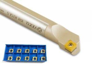 Barra-de-Perforacion-Izquierda-25mm-Sclcl-09-Akko-10-Insertos-cc-09T3-Nuevo