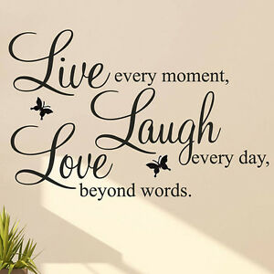 Live Laugh Love Quote Fascinating Live Laugh Love Quote Vinyl Decal Removable Art Wall Stickers Home
