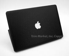FOR MAC BOOK PRO 15 BLACK CARBON FIBER FULL BODY WRAP PROTECTOR DECAL SKIN 10pcs