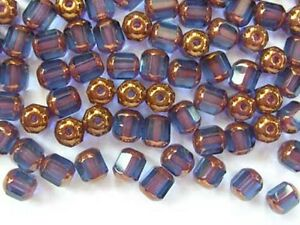 40-MONTANA-BLUE-faceted-lantern-Czech-glass-beads-6mm