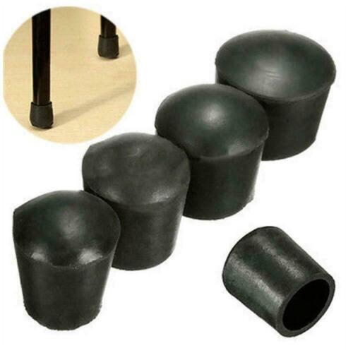 Plastic Round Chair Leg Caps Covers Rubber Feet Protector Table Furniture P M8B5