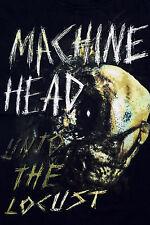 "MACHINE HEAD GROOVE HEAVY ROCK MUSIC ""Unto the locust"" BLACK T SHIRT TOP L SuPER"