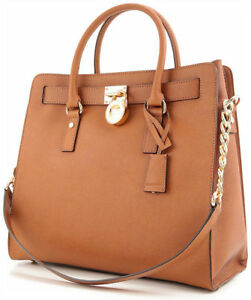 30c8a61f212d NEW MICHAEL KORS  358 LUGGAGE BROWN LARGE HAMILTON SAFFIANO LEATHER ...