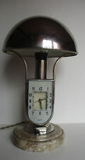MOFEM ANNES 1930 PENDULE LAMPE AVEC SON ABAT-JOUR CHROME SOCLE EN MARBRE