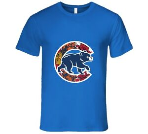 Chicago Cubs T Shirt Mens Fit Chicago Teams Bulls Bears Blackhawks ... f9051b4b1