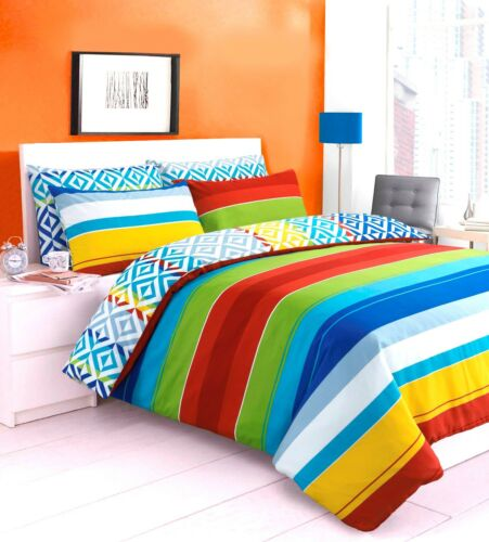 New Luxury Striped Bright Duvet Cover With Pillow Case Quilt Cover Bedding