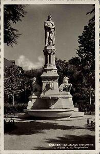 Bozen-Bolzano-Italien-Italia-Trentino-Suedtirol-1940-Monumento-Vogelwaide-Statue