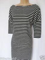 BNWT NEXT new Ladies Black and white nautical stripe textured slouch tunic dress