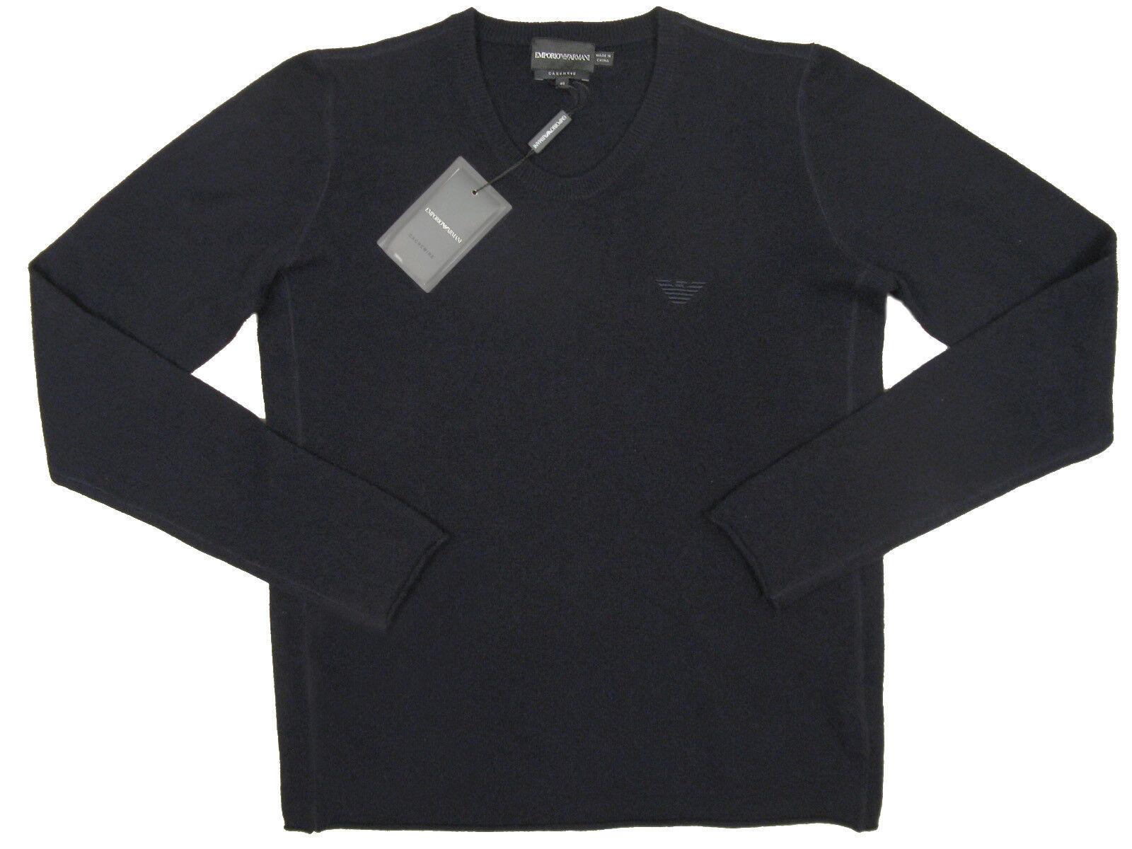 NEW Giorgio Armani Emporio Cashmere Sweater  40 (M) Dark Navy or Mauve  Slim Fit