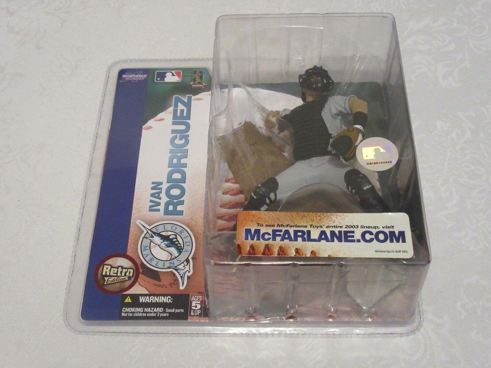 McFarlane MLB Series 7 Ivan Rodriguez Pudge Florida Marlins Chase Variant Retro