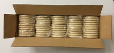 """50pc Solid Wood Curtain Rings Drapery Hardware 2-3/4 X 3-3/4 x 1/2""""  Unfinished"""