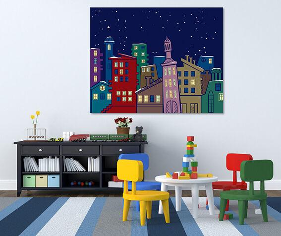 3D Bunte nette Haus 885 Fototapeten Wandbild BildTapete Familie AJSTORE DE