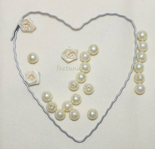 Herz Herzen Hochzeit Rohling für Girlande Blüten Autoschmuck 12 15 18 2 Draht
