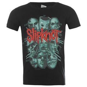 Official-Slipknot-T-Shirt-Mens-Masks-Top-Tee-Tshirt