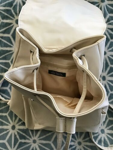Details about  /Cream Faux Leather Backpack Purse New With Tags By Wild Fable