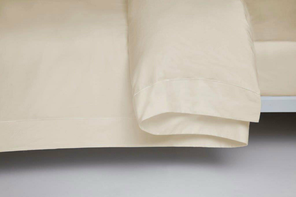 400 Thread Count Single Ply Egyptian Cotton Duvet Cover Superking Bed Größe Cream